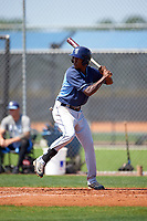 Tampa Bay Rays Joseph Astacio (83) during a minor league Spring Training intrasquad game on April 1, 2016 at Charlotte Sports Park in Port Charlotte, Florida.  (Mike Janes/Four Seam Images)