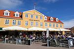 Denmark, Jutland, Løkken: Løkken Badehotel | Daenemark, Juetland, Løkken: Løkken Badehotel - Cafe und Restaurant