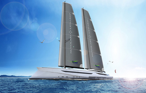 """""""Vento"""" project: presented in Venice for the very first time the concept of a new 100 metre megasailer by Nuvolari Lenard which claims to be a realistic return to 'sustainable sailing'"""
