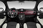 Stock photo of straight dashboard view of 2020 Fiat 500 S8-Star 3 Door Hatchback Dashboard