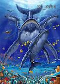 Interlitho, Lorenzo, FANTASY, paintings, whales, KL, KL4284,#fantasy# illustrations, pinturas
