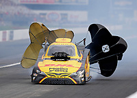 Aug 31, 2019; Clermont, IN, USA; NHRA funny car driver J.R. Todd during qualifying for the US Nationals at Lucas Oil Raceway. Mandatory Credit: Mark J. Rebilas-USA TODAY Sports
