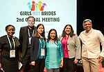 25 June, 2018, Kuala Lumpur, Malaysia : From left- Nankali Maksud (UNICEF), Quentin Wodon (World Bank), Leika Aruga (UN Women-Vietnam)  Lakshmi Sundaram (GNB) Marcela Suazo (UNFPA- Malaysia) and Venkatraman Chandra-Mouli (WHO -Switerland) and during the panel discussion on Multilateral Organisations on the opening day at the Girls Not Brides Global Meeting 2018 at the Kuala Lumpur Convention Centre. Picture by Graham Crouch/Girls Not Brides