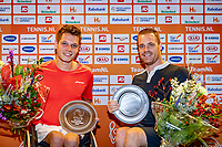 Alphen aan den Rijn, Netherlands, December 21, 2019, TV Nieuwe Sloot,  NK Tennis, Wheelchair finals, men's doubles, winners: Ruben Spaargaren (NED)  and Maikel Scheffers (NED) (R)<br /> Photo: www.tennisimages.com/Henk Koster