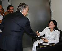 La rencontre entre les deux condidat de l'election présidentielle <br /> <br /> PHOTO : Agence Quebec Presse - jdidi wassim