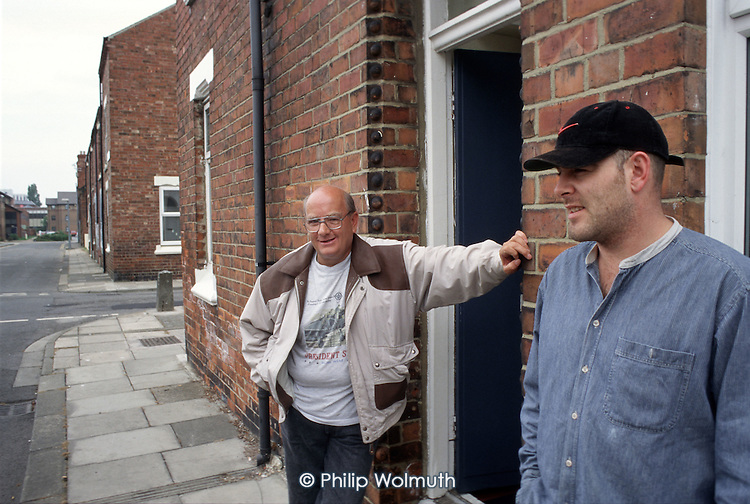 George Pew and Mark Harrison, tenants of Endeavour Housing Association in Laura Road, Middlesborough.