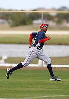 March 22, 2010:  Outfielder Destin Hood of the Washington Nationals organization during Spring Training at the Carl Barger Training Complex in Melbourne, FL.  Photo By Mike Janes/Four Seam Images