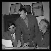 10 octobre 1962. Vue d'Edouard Duleu lors d'une réunion.