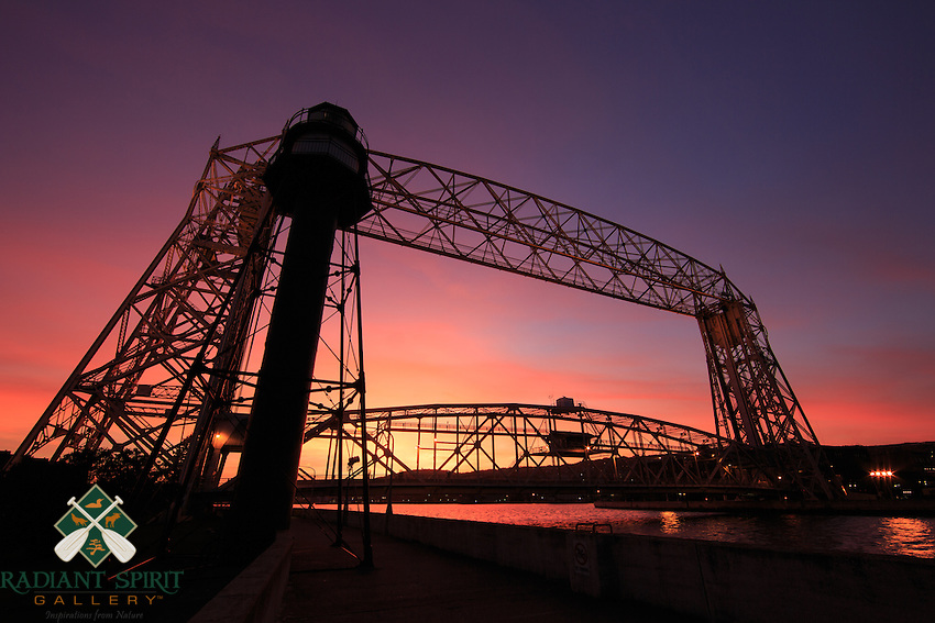 """""""Canal at Sunset""""<br /> The sky was ablaze as the sun set over Duluth. It was nice to see so many folks enjoying the pleasant October evening by the lake."""