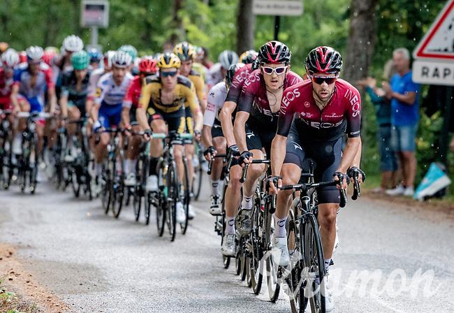 Jonathan Castroviejo (ESP/Ineos) leading the Ineos train up the final climb: the Col de Porte<br /> <br /> Stage 2: Vienne to Col de Porte (135km)<br /> 72st Critérium du Dauphiné 2020 (2.UWT)<br /> <br /> ©kramon