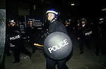 Brixton Riot April 1985 London Polce charge with riot shield.