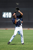 Seattle Mariners minor league infielder Chris Taylor #55 during an instructional league game against the Kansas City Royals at the Peoria Sports Complex on October 2, 2012 in Peoria, Arizona.  (Mike Janes/Four Seam Images)
