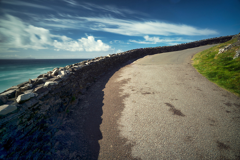Roadway at Clogher's Beach.County Kerry, Ireland