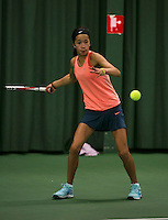 Rotterdam, The Netherlands, 15.03.2014. NOJK 14 and 18 years ,National Indoor Juniors Championships of 2014, Deavenia Achong (NED)<br /> Photo:Tennisimages/Henk Koster