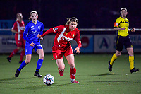 Aster Janssens (5) of Standard pictured during a female soccer game between  Racing Genk Ladies and Standard Femina on the 13 th matchday of the 2020 - 2021 season of Belgian Scooore Womens Super League , friday 5 th of february 2021  in Genk , Belgium . PHOTO SPORTPIX.BE | SPP | STIJN AUDOOREN