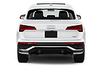 Straight rear view of 2021 Audi Q5-Sportback Premium 5 Door SUV Rear View  stock images