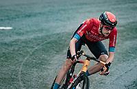 Wout Poels (NED/Bahrain - Victorious) descending the Col de la Colombière (1618 m)<br /> <br /> Stage 8 from Oyonnax to Le Grand-Bornand (151km)<br /> 108th Tour de France 2021 (2.UWT)<br /> <br /> ©kramon