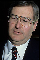 File Photo circa 1989 - Montreal, Quebec - Michael Wilson, Minister of finances of Canada