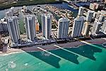 Turnberry Ocean Colony N Towe,r Collins Road, Atlantic Ocean, Miami Beach, Florida, helicopter, aerial