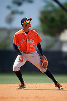 Houston Astros shortstop Miguelangel Sierra (70) during an Instructional League game against the Atlanta Braves on September 26, 2016 at Osceola County Stadium Complex in Kissimmee, Florida.  (Mike Janes/Four Seam Images)