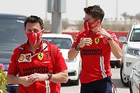 26th March 2021; Sakhir, Bahrain; F1 Grand Prix of Bahrain, Free Practice sessions;  LECLERC Charles (mco), Scuderia Ferrari SF21, portrait during Formula 1 Gulf Air Bahrain Grand Prix