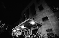 A riot storms the Macedonian Parliment after hearing their government negotiated with NATO and Albanian terrorists. Skopje. Macedonia<br />
