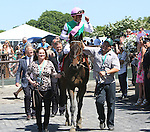 June 7, 2014: #1 Close Hatches, trained by Bill Mott and ridden by Joel Rosario, wins the 46th running of the Grade I Ogden Phipps, one mile and a sixteenth for fillies and mares four and older at Belmont Park , Elmont, NY  ©Joan Fairman Kanes/ESW/CSM