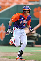 Freshman infielder Stokes Brownlee (51) of the Clemson Tigers in a fall practice intra-squad Orange-Purple scrimmage on Saturday, September 26, 2015, at Doug Kingsmore Stadium in Clemson, South Carolina. (Tom Priddy/Four Seam Images)