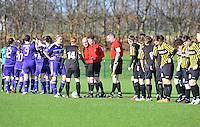 RSC Anderlecht Dames - WD Lierse SK : voor de aftrap .foto DAVID CATRY / Vrouwenteam.be