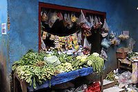 Vegetables and various food stuffs on sale in a colorful market in a slum community in central Jakarta.<br /> <br /> To license this image, please contact the National Geographic Creative Collection:<br /> <br /> Image ID:1588053<br />  <br /> Email: natgeocreative@ngs.org<br /> <br /> Telephone: 202 857 7537 / Toll Free 800 434 2244<br /> <br /> National Geographic Creative<br /> 1145 17th St NW, Washington DC 20036