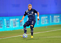 LAKE BUENA VISTA, FL - JULY 26: Anton Tinnerholm of New York City FC passes the ball during a game between New York City FC and Toronto FC at ESPN Wide World of Sports on July 26, 2020 in Lake Buena Vista, Florida.
