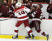 Alex Killorn (Harvard - 19), Jeremy Price (Colgate - 20) - The Colgate University Red Raiders defeated the Harvard University Crimson 4-2 (EN) on Saturday, February 20, 2010, at Bright Hockey Center in Cambridge, Massachusetts.