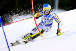 Felix Neureuther competes during the FIS Alpine Ski World Cup Men's Slalom in Madonna di Campiglio, on December 22, 2015.