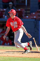 Ohio State Buckeyes Josh Dezse #33 during a game vs. the Illinois State Redbirds at Chain of Lakes Park in Winter Haven, Florida;  March 11, 2011.  Illinois defeated Ohio State 12-1.  Photo By Mike Janes/Four Seam Images