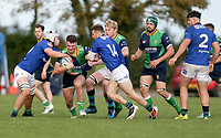 Saturday 10th October 2020 | Ballynahinch vs Queens<br /> <br /> Ronan Patterson on the attack during the Energia Community Series clash between Ballynahinch and Queens at Ballymacarn Park, Ballynahinch, County Down, Northern Ireland. Photo by John Dickson / Dicksondigital