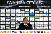 SWANSEA, WALES - MARCH 16: Liverpool manager Brendan Rodgers gives a press conference after the Premier League match between Swansea City and Liverpool at the Liberty Stadium on March 16, 2015 in Swansea, Wales