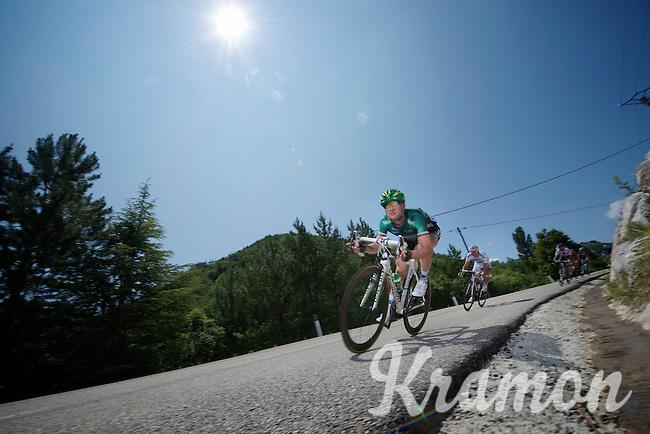 Thomas Voeckler (FRA) descending the Col de Macuègne (2nd Cat)<br /> <br /> Tour de France 2013<br /> stage 16: Vaison-la-Romaine to Gap, 168km