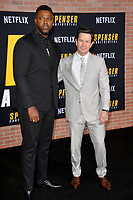 "LOS ANGELES, CA: 27, 2020: Winston Duke & Mark Wahlberg  at the world premiere of ""Spenser Confidential"" at the Regency Village Theatre.<br /> Picture: Paul Smith/Featureflash"