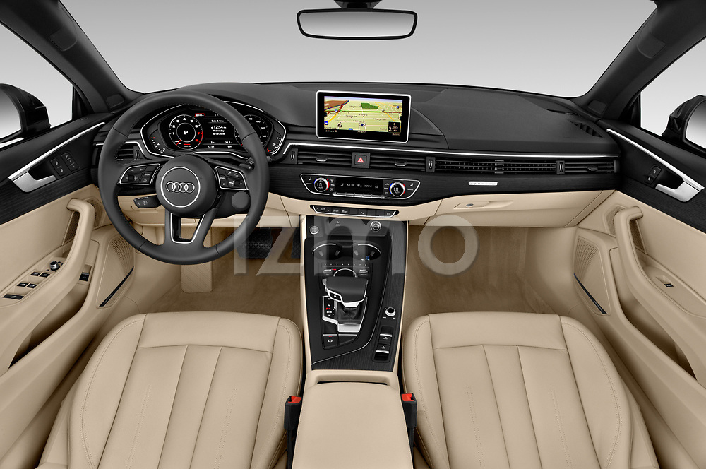 Straight dashboard view of 2019 Audi A5-Cabriolet Premium-Plus 2 Door Convertible Dashboard