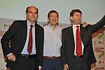 PIERLUIGI BERSANI CON IGNAZIO MARINO E DARIO FRANCESCHINI<br /> ASSEMBLEA PARTITO DEMOCRATICO - HOTEL MARRIOT ROMA 2009