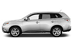 Car driver side profile view of a 2014 Mitsubishi Outlander Instyle 5 Door SUV