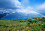 Rainbow over Lake Wanaka, South Island, New Zealand