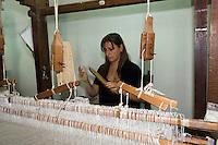 Weberei Tela in Citta di Castello, Umbrien, Italien