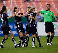 Homare Sawa, Sarah Huffman, Lene Mykjaland, Sonia Bompastor. The Washington Freedom defeated the Saint Louis Athletica, 3-1.