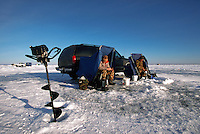 Ice Fishing on Lake Mille Lacs, Minnesota