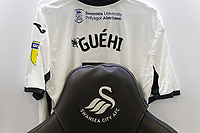 Swansea City changing room prior to the Sky Bet Championship match between Swansea City and Wigan Athletic at the Liberty Stadium, Swansea, Wales, UK. Saturday 19 January 2020
