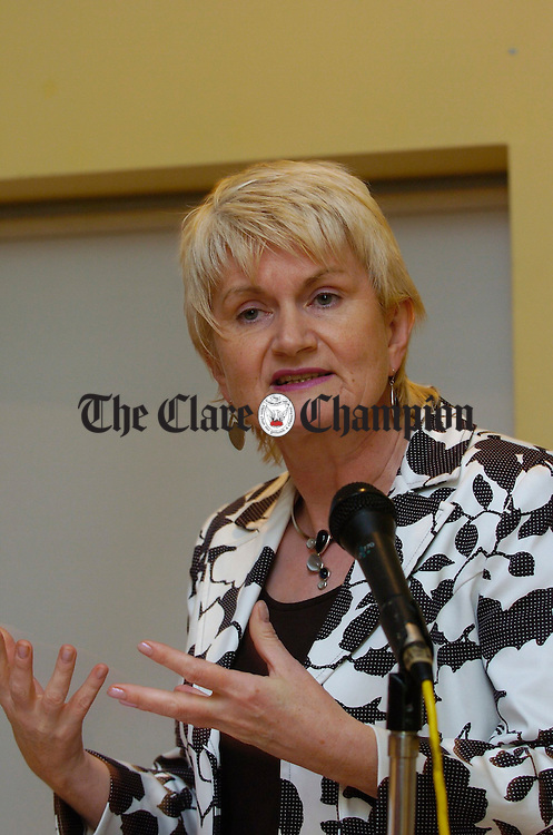 Marian Harkin, T.D. and MEP speaking at the launch of Changing Views, a documentary film on a changing rural identity in West Clare. Photograph by John Kelly.