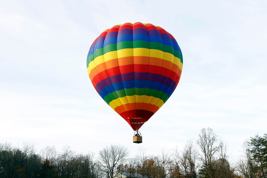 A hot air balloon takes off in Albemarle County, VA. Photo/Andrew Shurtleff