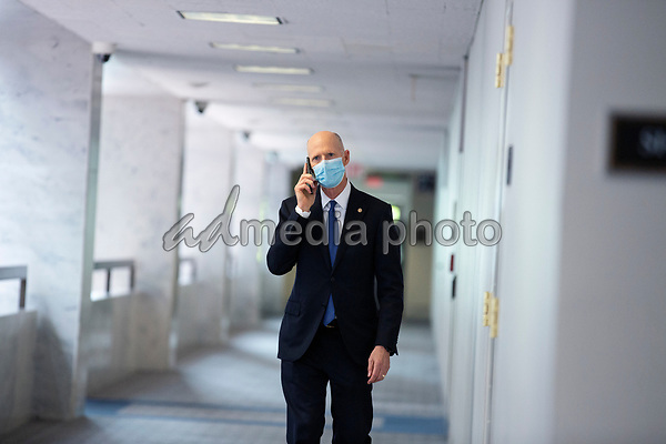 United States Senator Rick Scott (Republican of Florida) walks to the GOP Policy Luncheons at the Hart Senate Office Building in Washington D.C., U.S. on Thursday, May 21, 2020. Credit: Stefani Reynolds / CNP/AdMedia