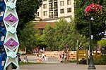 People at Jamison Square, Pearl District, Portland, Oregon